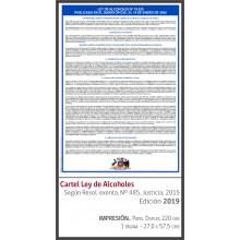Cartel Ley de Alcoholes 2021
